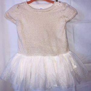 Gap gold tutu dress 3-6 mos